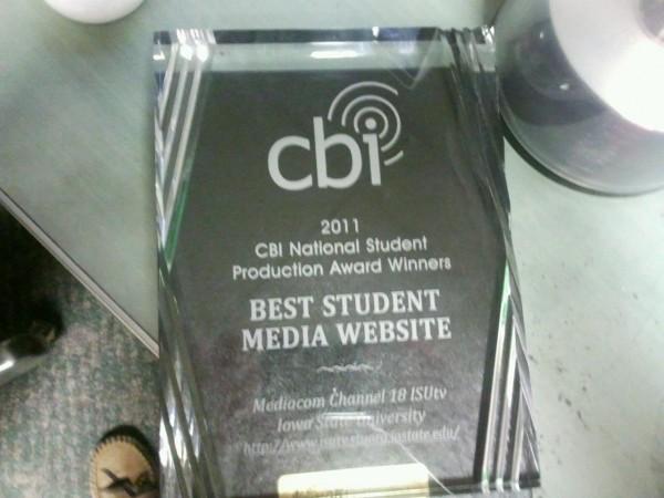 ISUtv Website Award